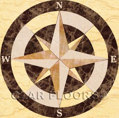 SC2-Square Marble Floor Medallion