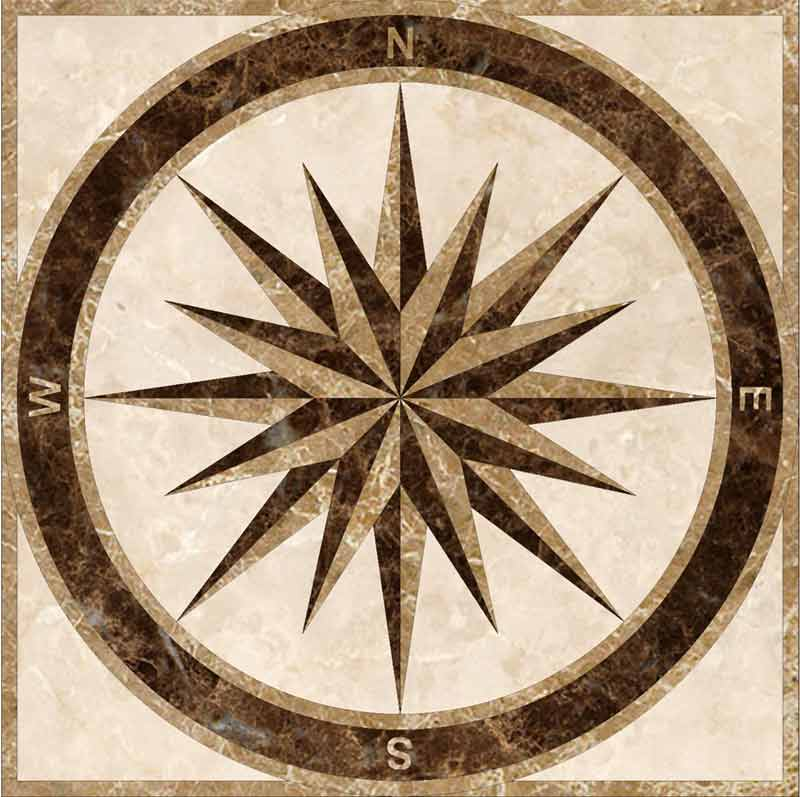 SPC3-Square Marble Floor Medallion