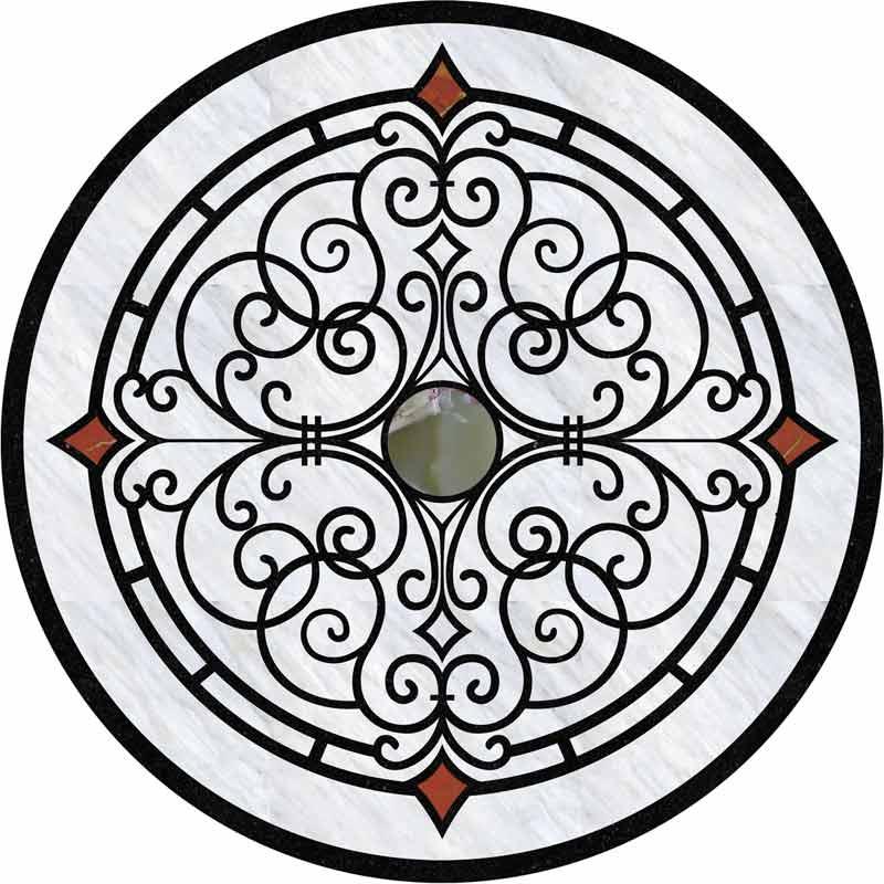 Venice-II Marble Floor Medallion