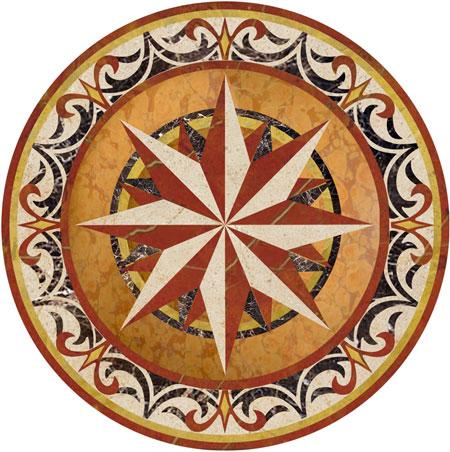 Callisto Marble Floor Medallion