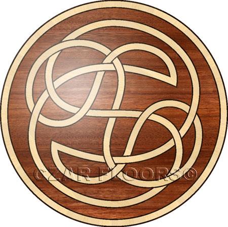 Celtic Wood Floor Medallion