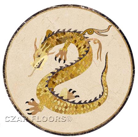 Dragon Marble Floor Medallion