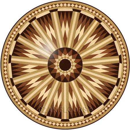 P25 Wood Floor Medallion
