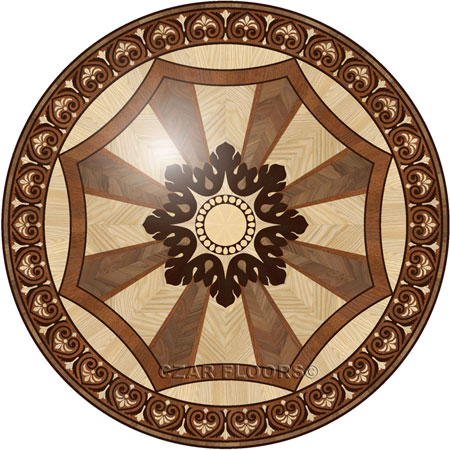 R100 Wood Floor Medallion