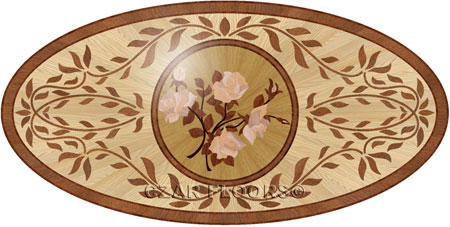P26 Wood Floor Medallion