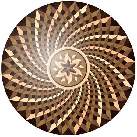 Spinoza Wood Floor Medallion