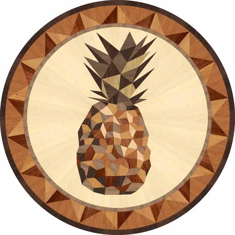 Pineapple Wood Floor Medallion