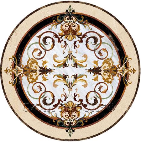 rafael Marble Floor Medallion