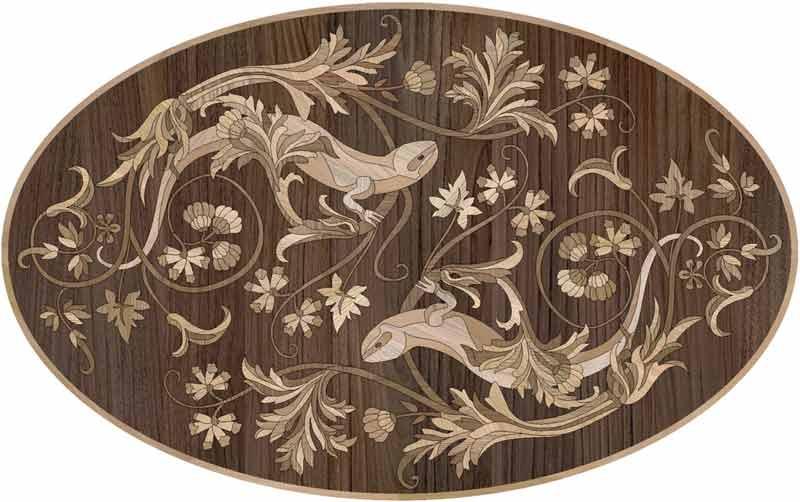 Nature Wood Floor Medallion