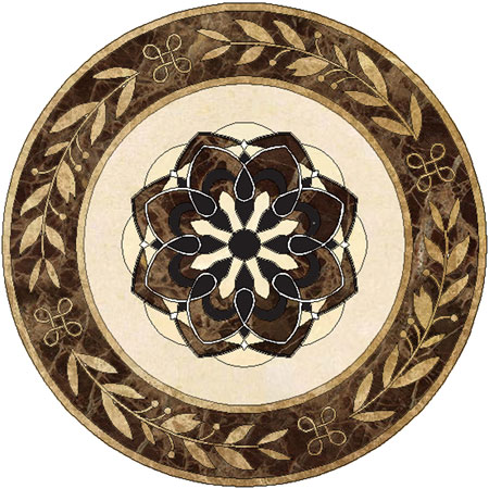 SP18 Marble Floor Medallion