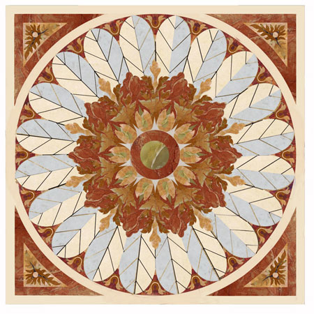 SP3 Marble Floor Medallion