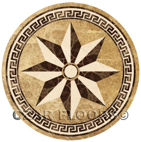 SR8 Marble Floor Medallion