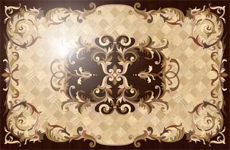 Villa-Light Wood Floor Medallion