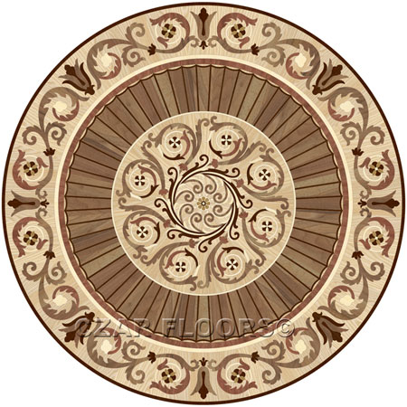 P37 Wood Floor Medallion