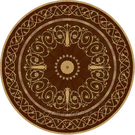 Lidia Wood Floor Medallion
