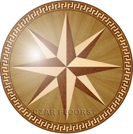 PC7 Wood Floor Medallion
