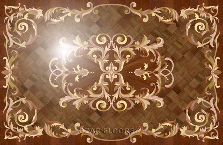 Villa Wood Floor Medallion
