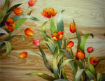 Flooring inlay:  Tulips