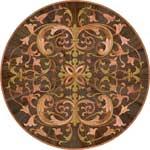 Flooring inlay:  Milva Wood Medallion