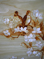 Flooring inlay:  Birds