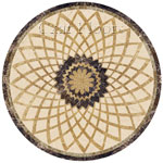 Flooring inlay:  Radial Stone Medallion