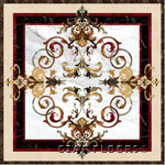 Flooring inlay:  Garden III Stone Medallion