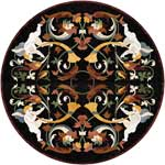 Flooring inlay:  Ovid Stone Medallion