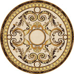Flooring inlay:  Madonna Stone Medallion