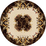 Flooring inlay:  Emperador Stone Medallion
