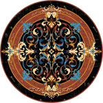 Flooring inlay:  Livorno Stone Medallion