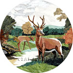 Flooring inlay:  Deer Stone Medallion