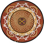 Flooring inlay: Forte-Grande Stone Medallion