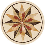 Flooring inlay:  SC3 Stone Medallion