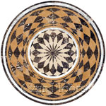 Flooring inlay: Synthon Stone Medallion
