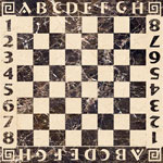 Flooring inlay: Stone-Chess Stone Medallion