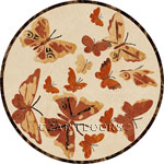 Flooring inlay: Butterfly-Crema Stone Medallion