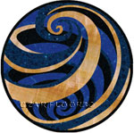 Flooring inlay:  Vortex-Blue Stone Medallion