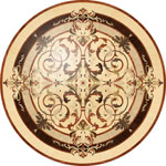 Flooring inlay:  Leyla Wood Medallion