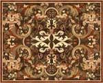 Flooring inlay:  Botticelli Wood Medallion