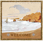 Flooring inlay: Welcome-Shore Stone Medallion