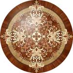 Flooring inlay:  Magic-II Wood Medallion