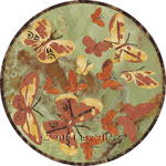 Flooring inlay:  Butterfly-Green Stone Medallion