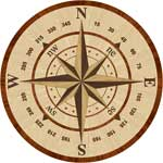 Flooring inlay:  Navigator Wood Medallion