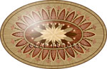 Flooring inlay:  P1 Wood Medallion