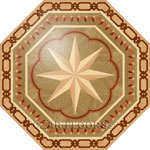 Flooring inlay:  P10 Wood Medallion