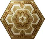 Flooring inlay:  P20 Wood Medallion