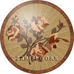 Flooring inlay:  P26B Wood Medallion