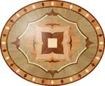 Flooring inlay:  P27 Wood Medallion