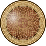 Flooring inlay:  P2R Wood Medallion