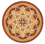 Flooring inlay: P38 Wood Medallion